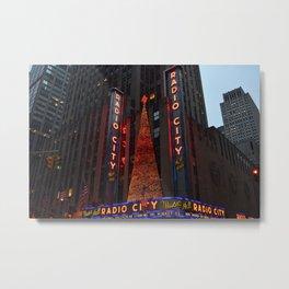 Radio City Music Hall at Christmastime Metal Print