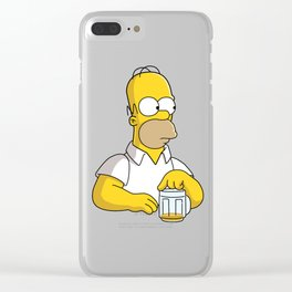 the simpson coffe Clear iPhone Case