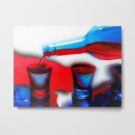 The Drink That Kills You Ode To Addiction Metal Print