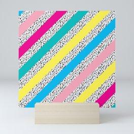 80's / 90's Stripes Mini Art Print