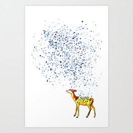 Watercolor Deer Art Print