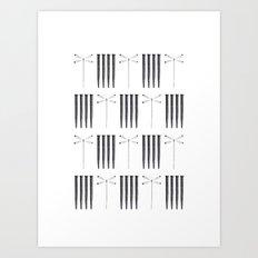 Dagonfly & nails Art Print