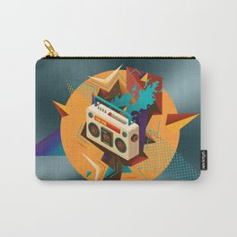 Bust Out The Jams Retro 80s Boombox Splash Carry-All Pouch