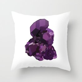 Amethyst Crystal Stone Throw Pillow