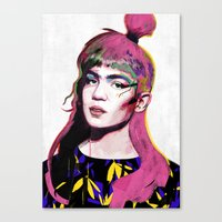 grimes Canvas Prints featuring Grimes by Zaneta Antosik