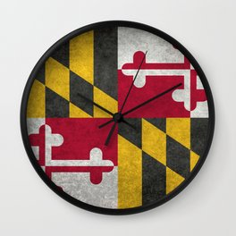Maryland State flag - Vintage retro style Wall Clock