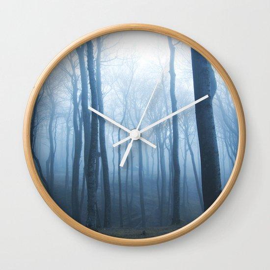 Foggy Woods #society6 #buyart Wall Clock