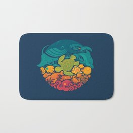 Aquatic Rainbow Bath Mat