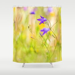 Beauty of wildflowers in the garden IV Shower Curtain