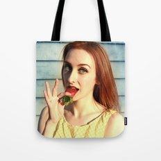 Strawberry Redhead Tote Bag