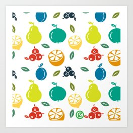 Fruity Pop Art Print
