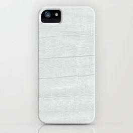 Gray Weathered Wood iPhone Case