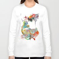 archan nair Long Sleeve T-shirts featuring Drifting Particles by Archan Nair