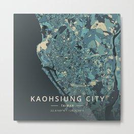 Kaohsiung City, Taiwan - Cream Blue Metal Print