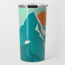 As the sun rises over the peak Travel Mug