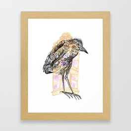 Urban Heron Framed Art Print