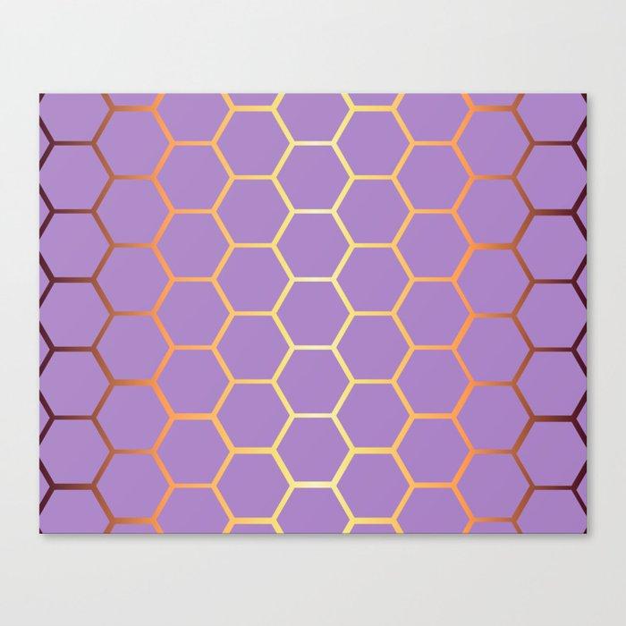 Golden Honeycomb Geometric Pattern Canvas Print By Allieklawitterphoto