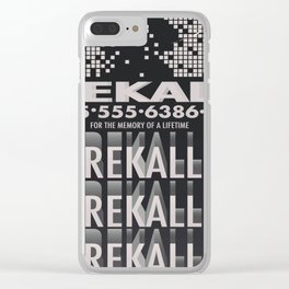 Rekall ( Total Recall ) Vintage magazine commercial. Clear iPhone Case