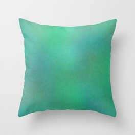 Color gradient and texture 74 green Throw Pillow