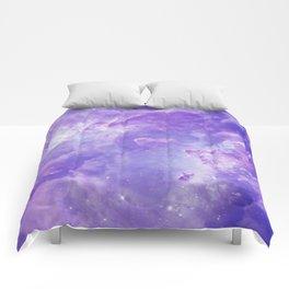 Violet galaxy Comforters
