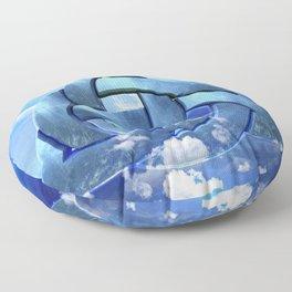 Sacred Geometry - Trinity 09 Floor Pillow