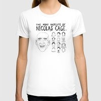 nicolas cage T-shirts featuring The Many Haircuts Of Nicolas Cage. by Stewart Chown
