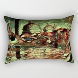 Rusalka: Москва (Fall Morning) Rectangular Pillow