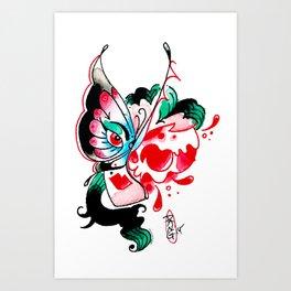BflyFace Art Print