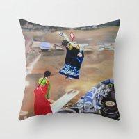 korean Throw Pillows featuring Korean Seesaw by Robert S. Lee Art