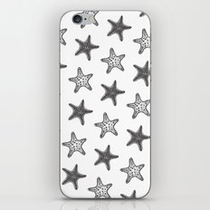 Starfish Black on White iPhone & iPod Skin