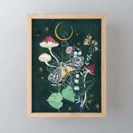 Mushroom night moth Framed Mini Art Print