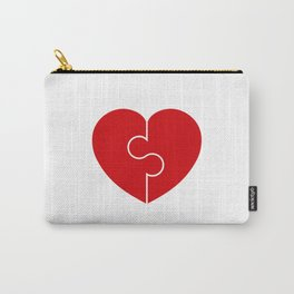 Heart Puzzle Love Symbol . Heart Vector Illustration Carry-All Pouch