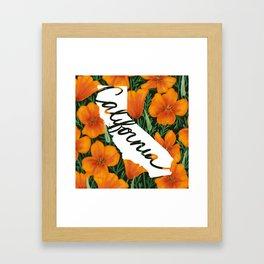 California - California poppy Framed Art Print