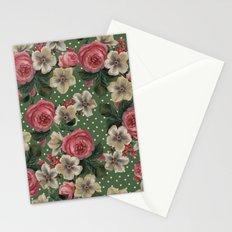 Vintage Rose Pattern Stationery Cards