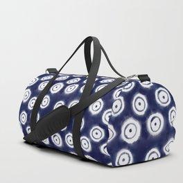 Shibori Rings #society6 #shibori Duffle Bag
