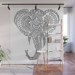 The Elephant Mask Wall Mural