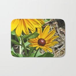 Black-eyed Susans and a Busy Bee Bath Mat