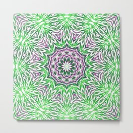 Green - purple kaleidoscope Metal Print