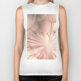 Pink Dandelion Macro Nature Photography Art and Apparel Biker Tank