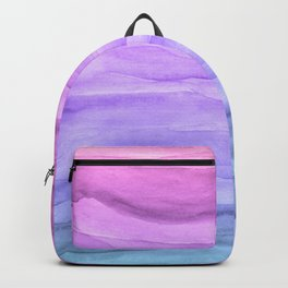 Abstract Watercolor Layers - Purple Ombre Backpack