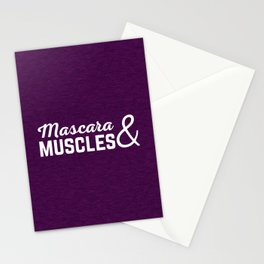 Mascara & Muscles Gym Quote Stationery Cards