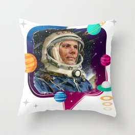 GAGARIN SPACE ODYSSEY 2 Throw Pillow