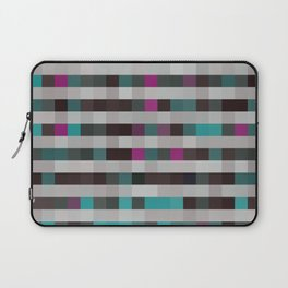 pixels pattern with colorful squares and stripes Laptop Sleeve