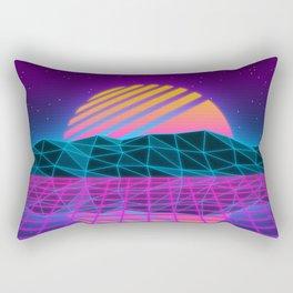 Vaporwave Sunset Rectangular Pillow