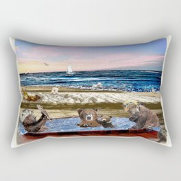 Beach Hot Tub Party Rectangular Pillow
