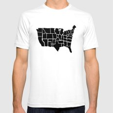 America from Memory SMALL Mens Fitted Tee White