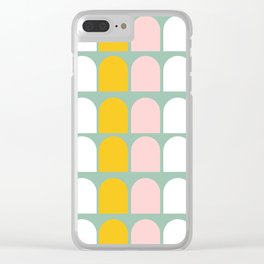 Pink, Orange and White Ice-Lollies on Teal Clear iPhone Case