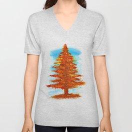 Fall Tree Unisex V-Neck