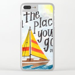 Oh the Places You'll Go - Dr. Seuss Clear iPhone Case