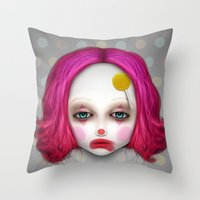 misfits Throw Pillows featuring Misfits - Lulu by Raymond Sepulveda